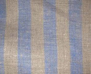 Blue Grey stripe linen