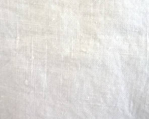heavy white crumpled linen